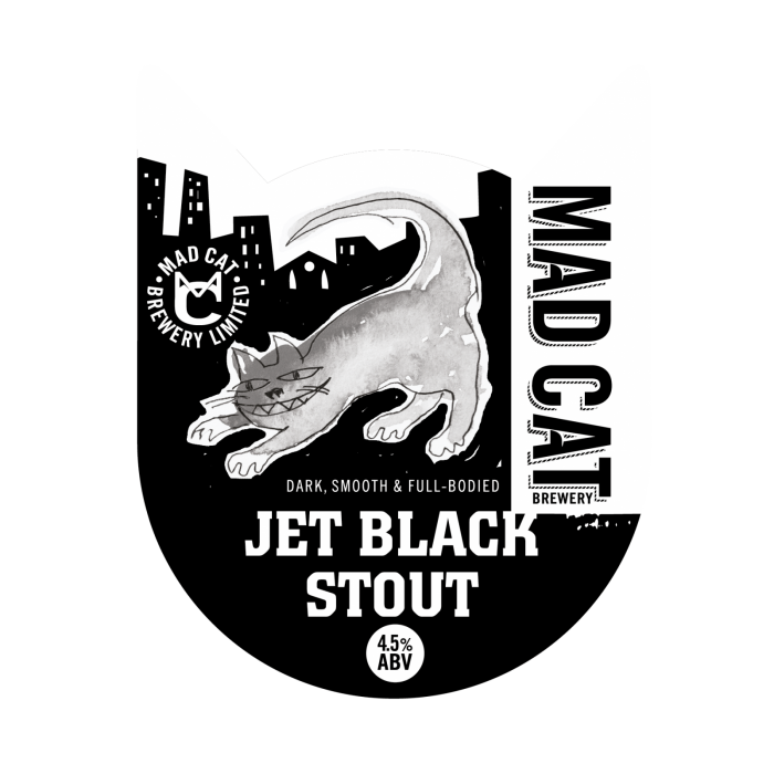 Jet Black Stout pump clip seasonal